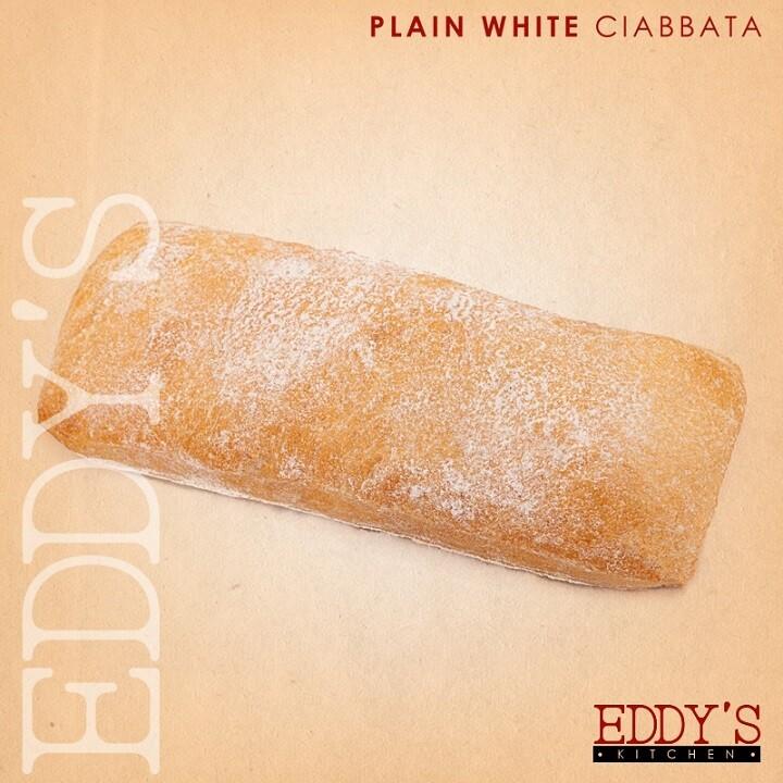 Plain White Ciabatta Bread (2) خبز شيباتا سادة أبيض
