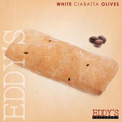 Olive Ciabatta Bread (2) خبز شيباتا بالزيتون