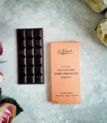 Stevia Dark Chocolate Peanuts شيكولاته دارك بالستيفيا والفول السوداني