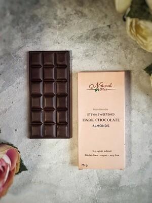 Stevia Dark Chocolate Almonds شيكولاته دارك بالستيفيا واللوز