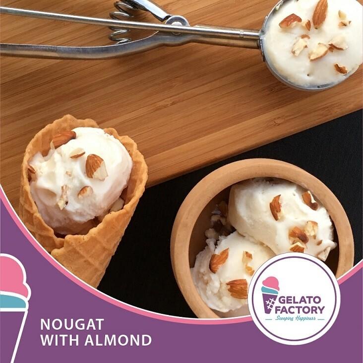 Nougat Gelato with Almonds (700g) جيلاتو نوجا باللوز