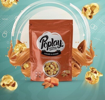 Almond & Caramel Popcorn (100g) فشار باللوز والكراميل