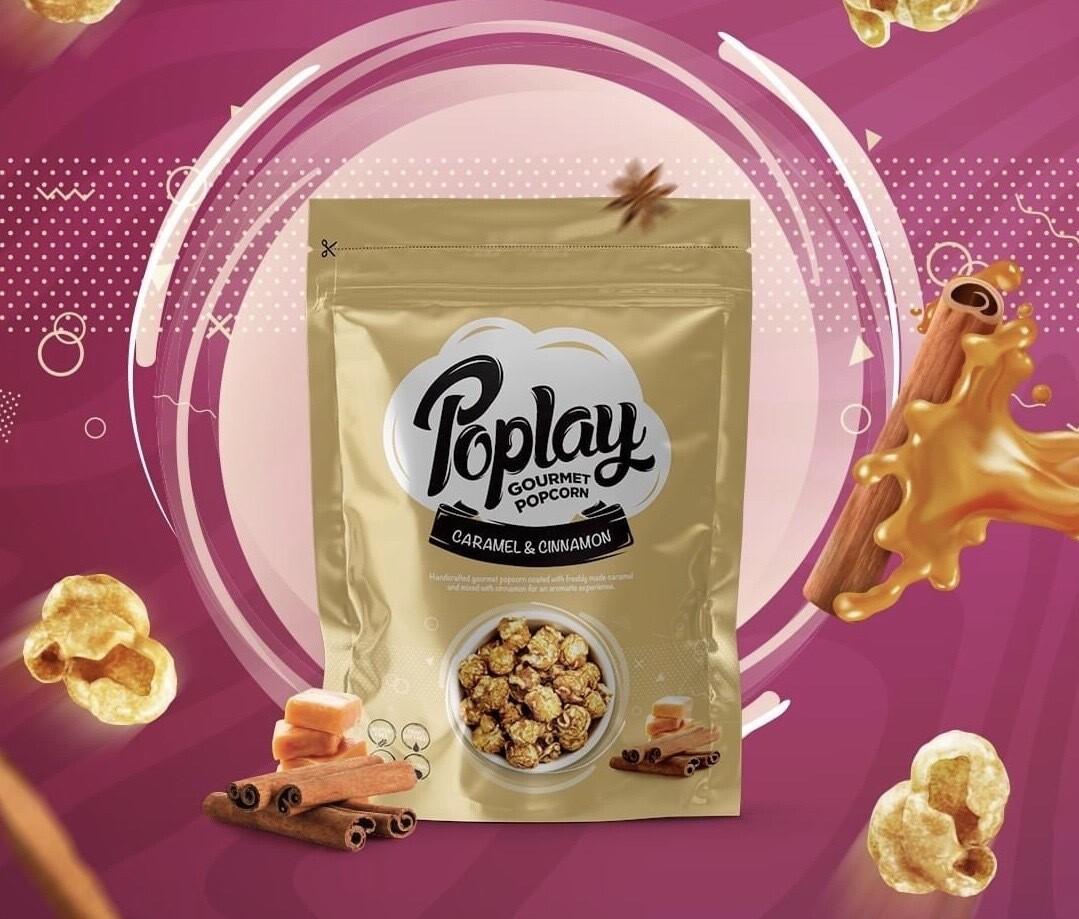 Cinnamon & Caramel Popcorn (100g) فشار بالقرفة والكراميل