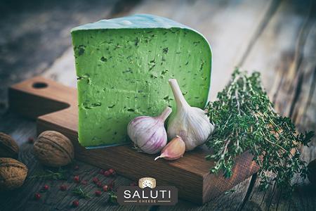 Green Pesto Gouda Cheese (250g) جبن جودة ريحان اخضر