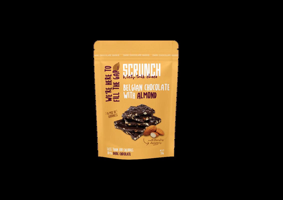 Belgian Dark Chocolate Almond Bark شوكولاتة دارك بلجيكية باللوز