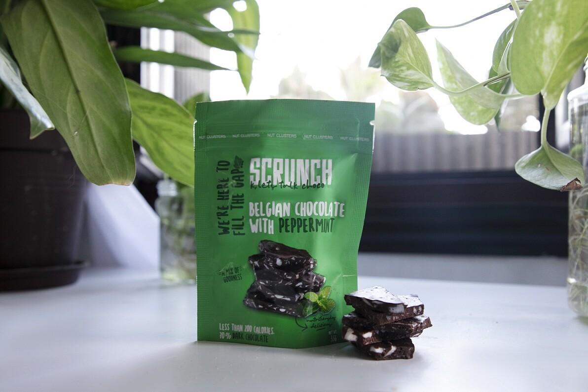 Belgian Dark Chocolate Peppermint Bark شوكولاتة دارك بلجيكية بالنعناع
