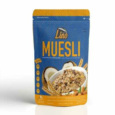 Coconut, Almond & Raisin Muesli (375g) موسلى زبيب وجوز هند ولوز