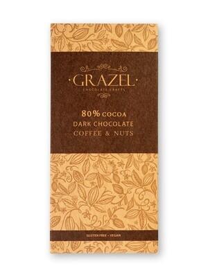 80% Dark Chocolate-Coffee & Nuts شوكولاته دارك بالقهوة والمكسرات