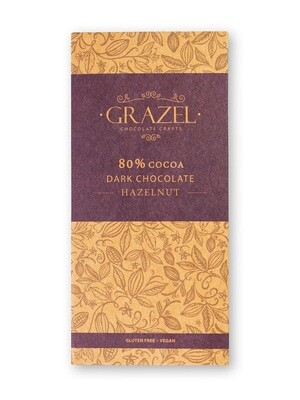 80% Dark Chocolate-Hazelnut شوكولاته دارك بالبندق