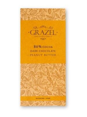 80% Dark Chocolate-Peanut Butter شوكولاته دارك بزبدة الفول السوداني
