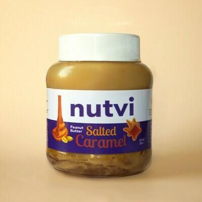 Salted Caramel Peanut Butter زبدة فول سوداني بالكراميل طبيعي