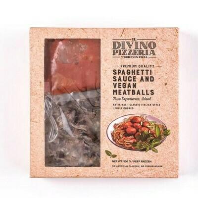 Vegan Meatballs and Spaghetti Sauce (500g) ميت بولز نباتي و صوص اسباجتي