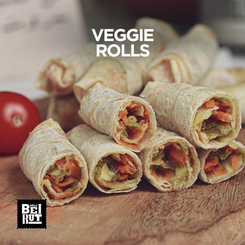 Vegetable Spring Rolls (8) سبرينغ رولز
