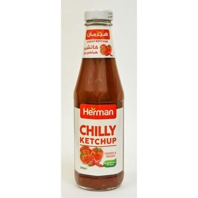 Herman Chili Tomato Ketchup (340g) هيرمان كاتشب حار