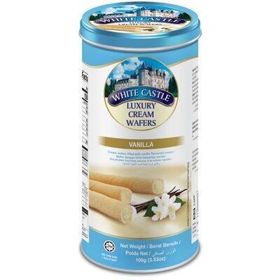 White Castle Cream Wafers Vanilla (100g) تورتو ويفر فانيليا وايت كاسل لوكسري