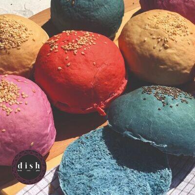 Colored Buns (8) كايزر ملون