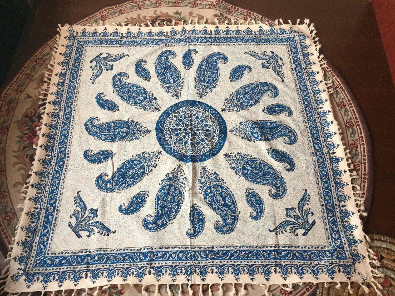 ペルシャ絨毯風の布、更紗100cm×100cm テーブルクロス ソファーカバーPersian carpet table cloth sofa cover