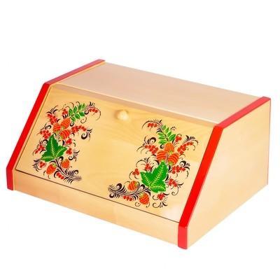 Хлебница с художественной росписью без фона, Подарочная коллекция, 370х275х170мм