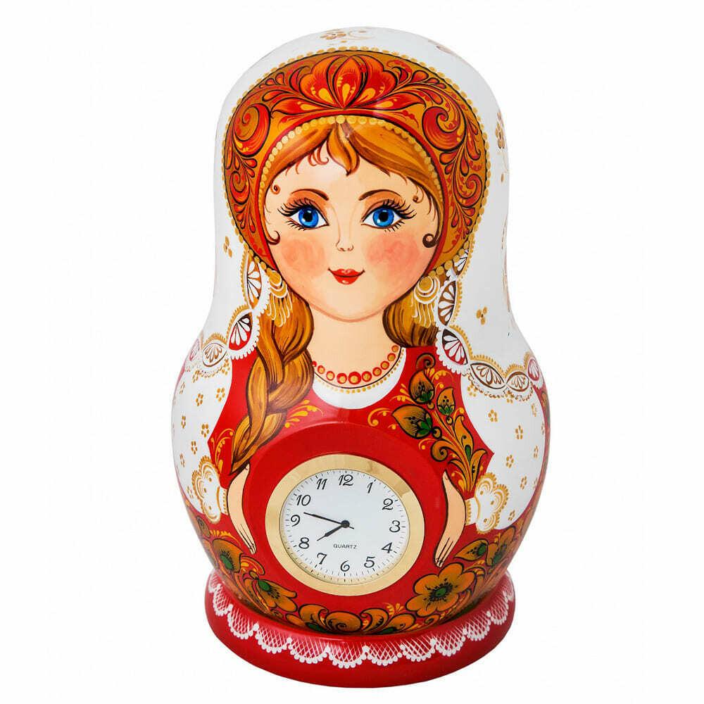 Часы «Матрёшка» авторская роспись
