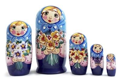 Матрёшка Семеновская «Танечка» авторская 5 кукол (опт)