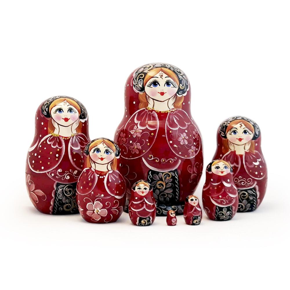 Матрёшка Семеновская авторская «Ариша» 8 кукол (15 см)