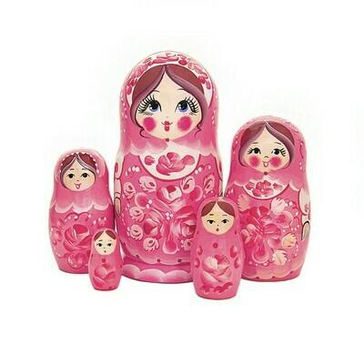 Матрёшка Семеновская «Ягодный сарафан» авторская 5 кукол (опт)