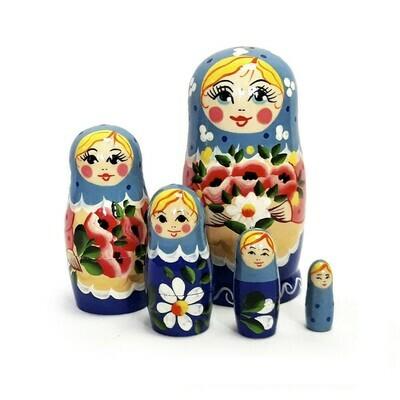 Матрёшка Семеновская «Маришка» (5 кукол) (опт)