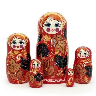 Матрешка Семеновская «Ягодка» 5 кукол (опт)