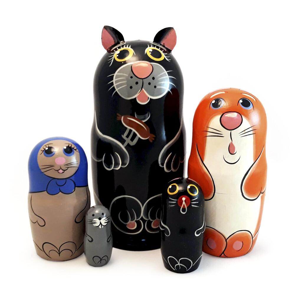 Матрешка сувенирная «Кот»