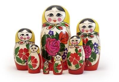 Матрёшка Семеновская «Россияночка» 7 кукол
