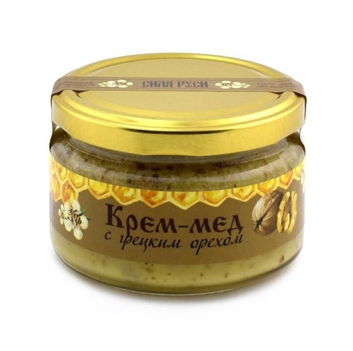Крем-мёд с грецким орехом 250 г