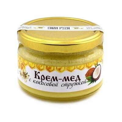 Крем-мёд с кокосовой стружкой 250 г