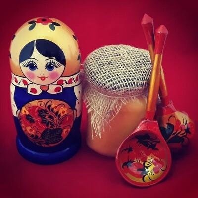 Матрёшка с мёдом и ложками, коллекция
