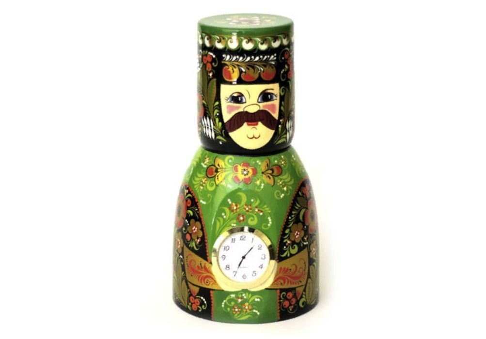 "Часы ""Боярин"" с хохломской росписью"