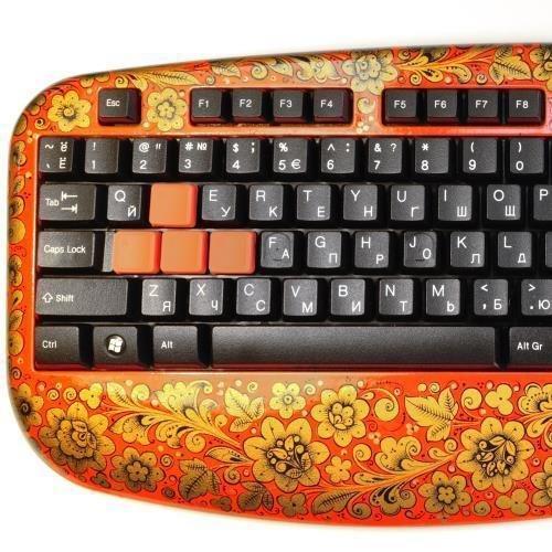 Клавиатура Хохлома, Вернисаж K015-14, проводная игровая клавиатура, для геймеров, A4Tech
