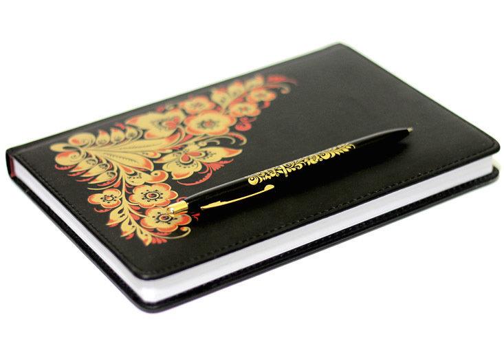 Комплект блокнот, ручка сувенирная А5-А6