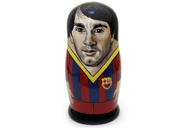 Матрёшка авторская коллекционная «Lionel Messi» 1 кукла