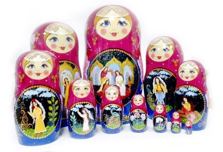 Матрёшка Семеновская авторская «Аленький цветочек» 11 кукол. Авторская роспись