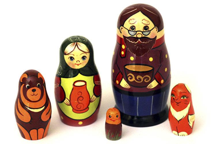 Матрёшка Семеновская авторская «Колобок»  5 кукол