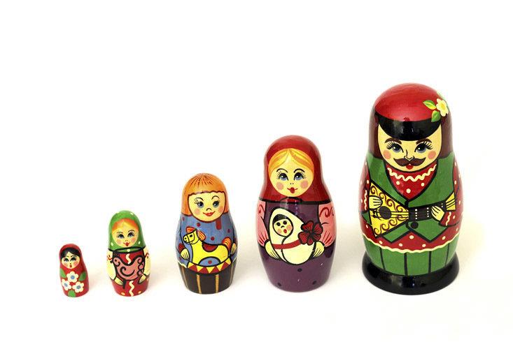 Матрёшка Семеновская авторская «Сказка» 5 кукол