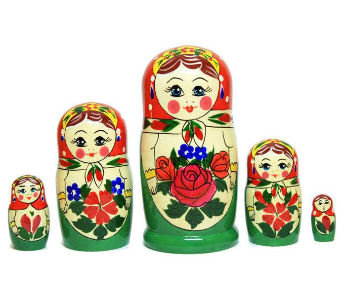 Матрёшка Семеновская «Алёнка» (5 кукол)