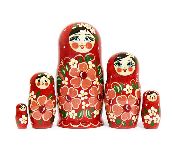 Матрёшка Семеновская «Ксюша» авторская 5 кукол