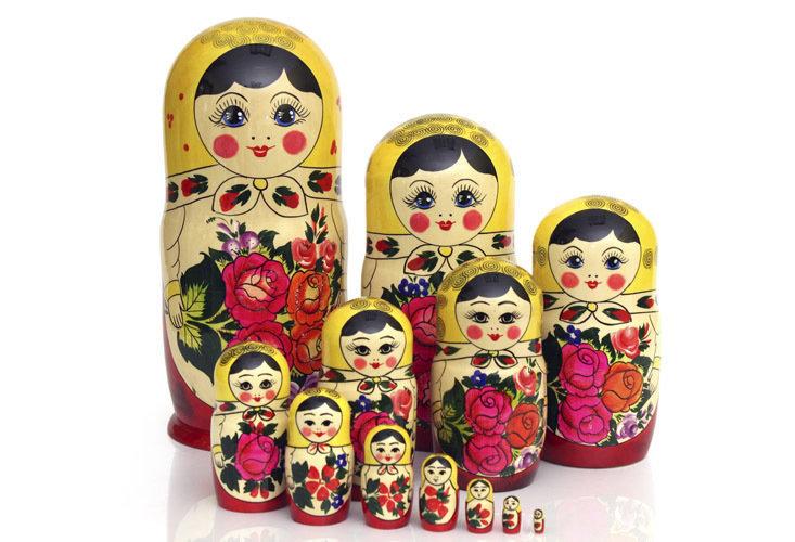 Матрёшка Семеновская «Россияночка» 12 кукол