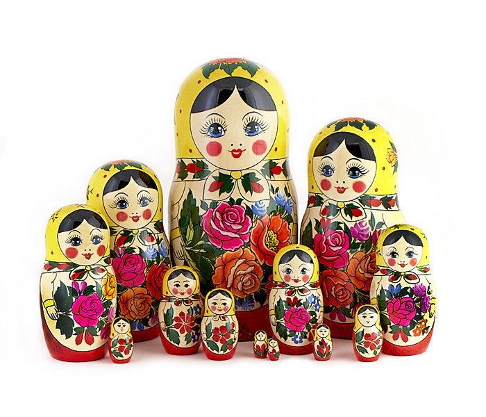Матрёшка Семеновская «Россияночка» 15 кукол