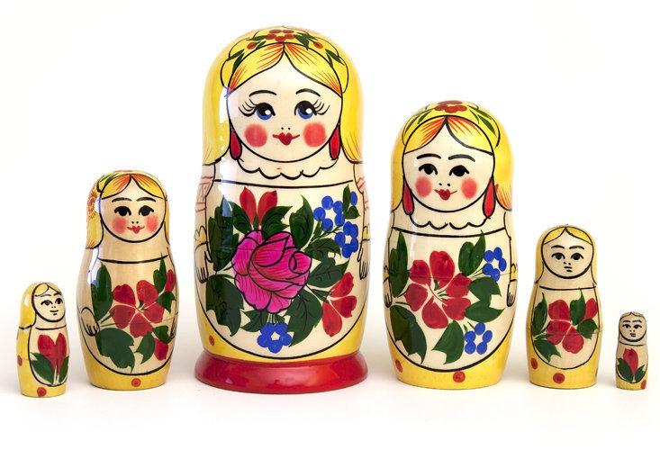 Матрёшка Семеновская «Сударушка» 6 кукол