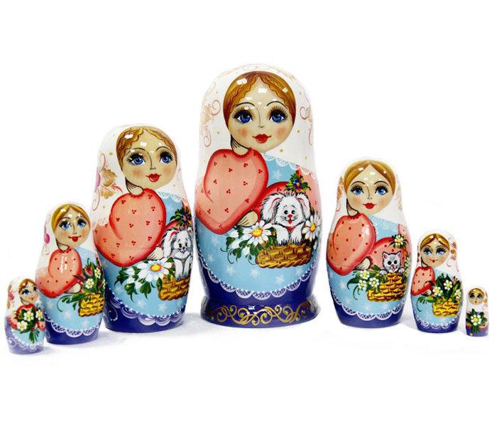 Матрёшка семёновская. Авторская роспись 7 кукол