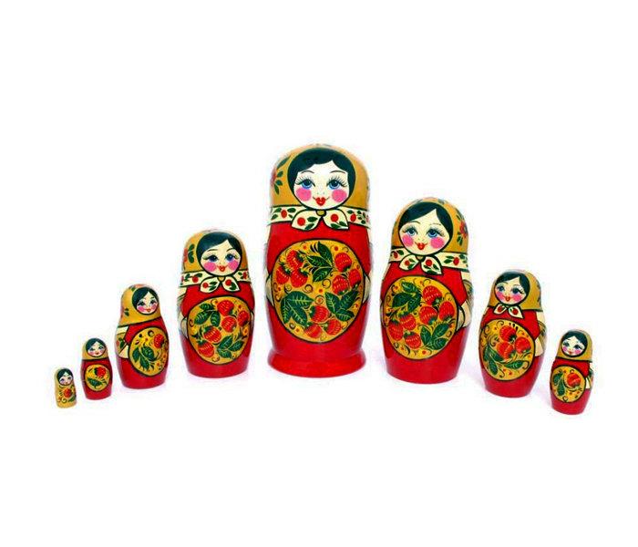 Матрёшка с Хохломской росписью 8 кукол