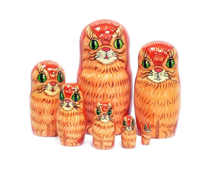 Матрешка сувенирная «Кот» (7 кукол)