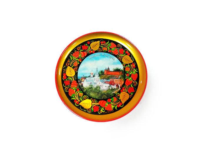 Тарелка-панно с видами городов разных размеров