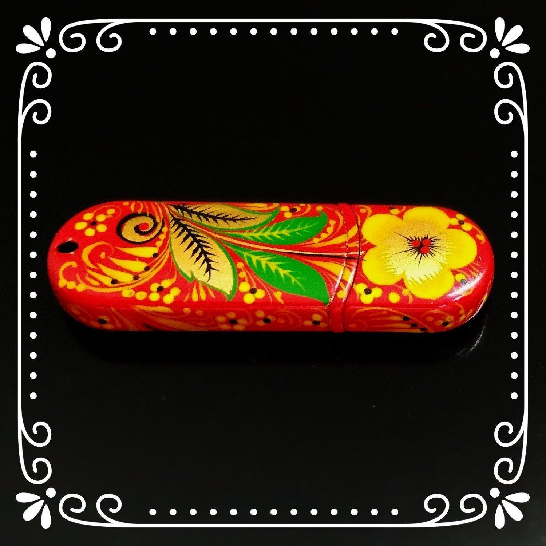 Флешка Хохлома, Вернисаж F015-08, объем 8Гб, Transcend
